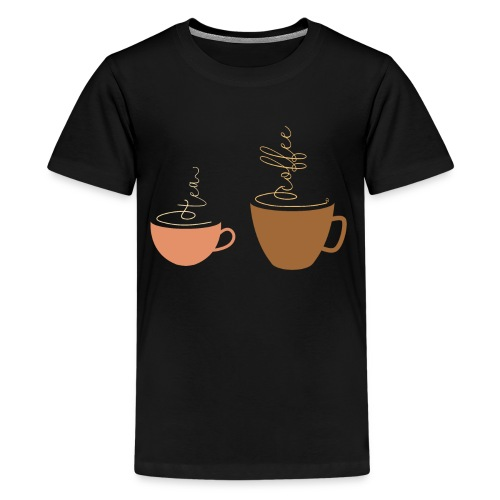 0254 Tea or coffee? That is the question! - Teenage Premium T-Shirt