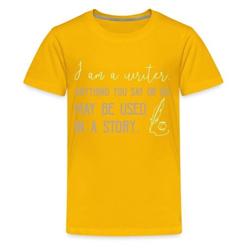0267 History | Author | Writer | story - Teenage Premium T-Shirt