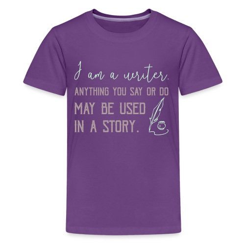 0267 History | Author | Writer | story - Teenage Premium T-Shirt
