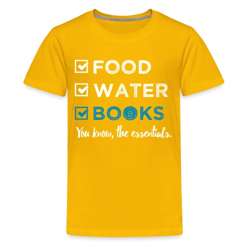 0262 Books | Reading | The important and essential - Teenage Premium T-Shirt