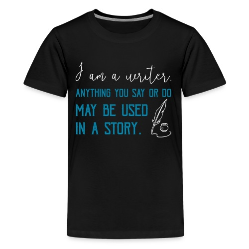 0268 Author | Writer | History | novel - Teenage Premium T-Shirt