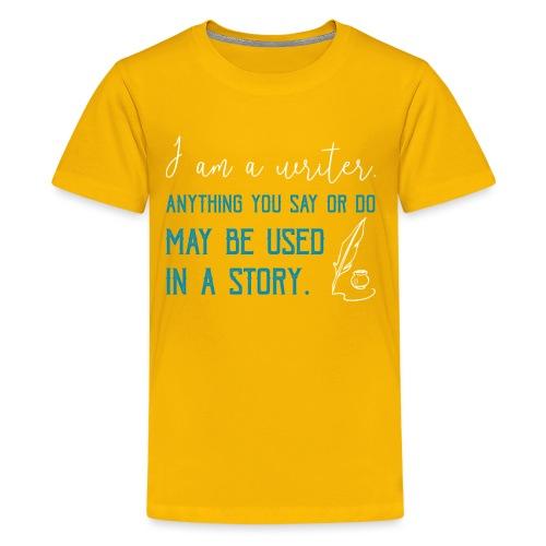 0268 Author | Writer | History | novel - Teenage Premium T-Shirt