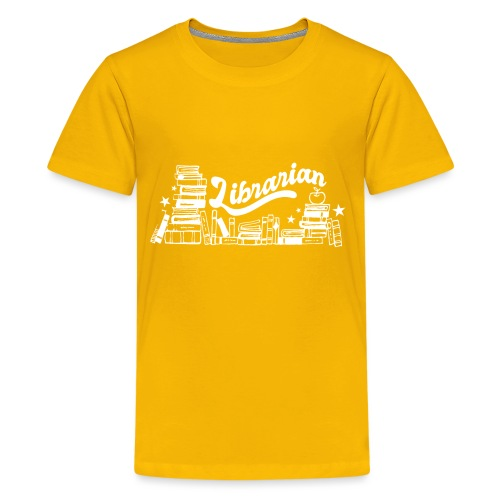 0323 Funny design Librarian Librarian - Teenage Premium T-Shirt