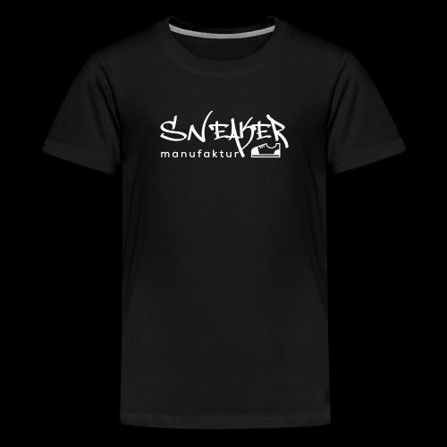 Sneakermanufaktur Linz - black edition - Teenager Premium T-Shirt