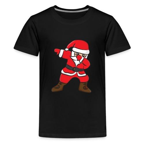 Dabbing Santa claus dab christmas kinder shirt - Teenager Premium T-Shirt