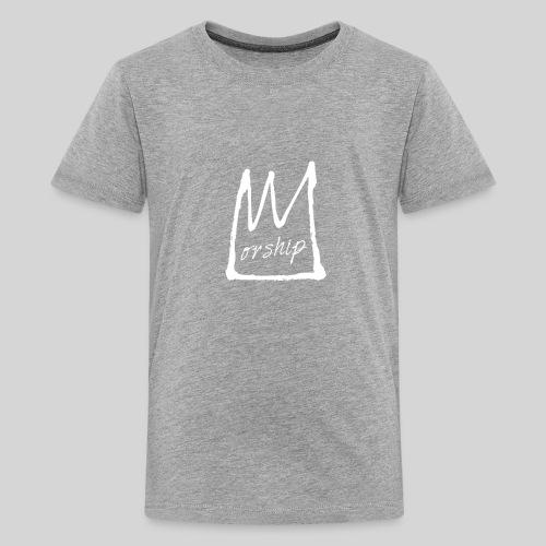 Worship Krone weiß - Lobpreis zu Jesus / Gott - Teenager Premium T-Shirt