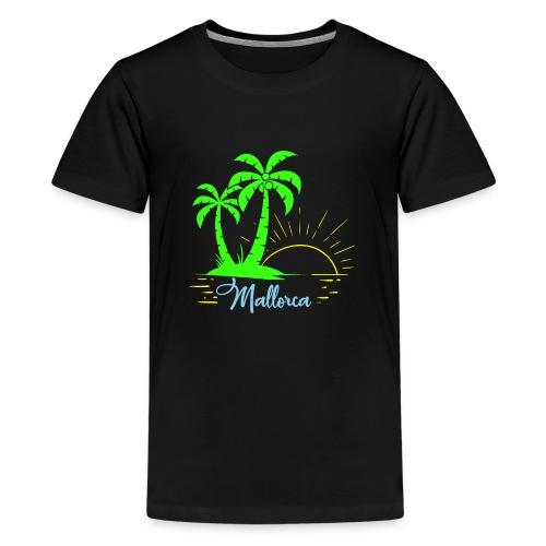 Die goldenen Sonnenuntergänge von Mallorca - Teenager Premium T-Shirt