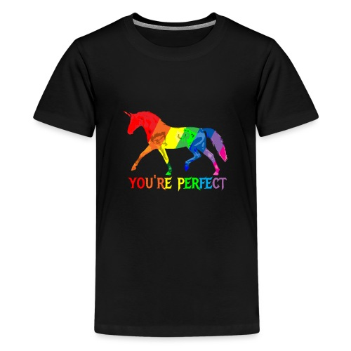 Regenbogen Einhorn - You´re perfect - Teenager Premium T-Shirt