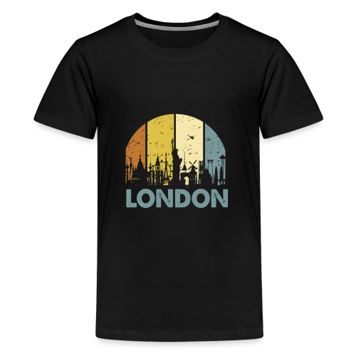 Vintage London Souvenir - Retro Skyline London - Teenager Premium T-Shirt