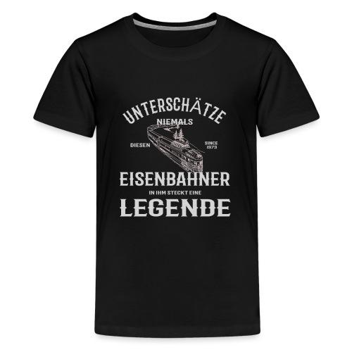 Unterschätze nie einen Eisenbahner. Legende 1973 - Teenager Premium T-Shirt