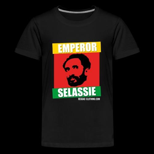 EMPORER SELASSIE red gold green - Teenager Premium T-Shirt