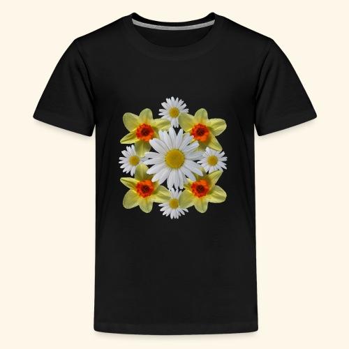 Narzissen Margeriten Osterglocken Blumen Blüten - Teenager Premium T-Shirt