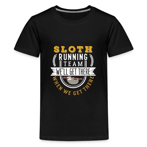 Sloth Running Team - Teenager Premium T-Shirt