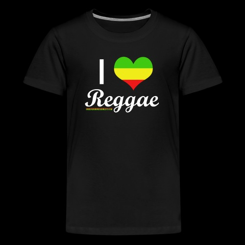 I LOVE Reggae - Teenager Premium T-Shirt