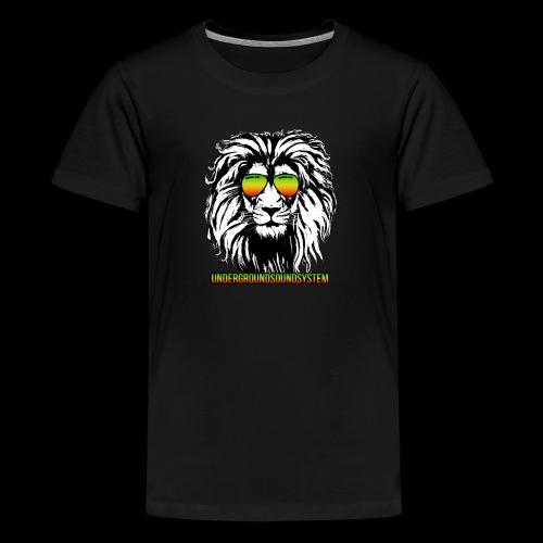 RASTA REGGAE LION - Teenager Premium T-Shirt