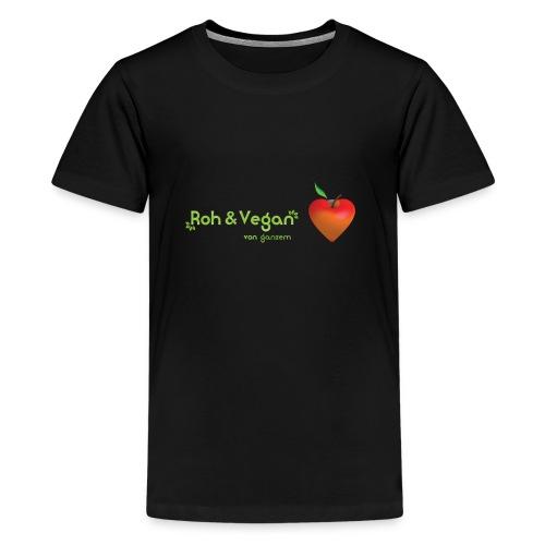 Roh & Vegan rotes Apfelherz (Rohkost) - Teenager Premium T-Shirt
