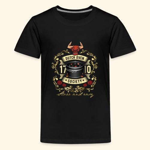 Grill-T-Shirt Dutch Oven Society - Geschenkidee! - Teenager Premium T-Shirt
