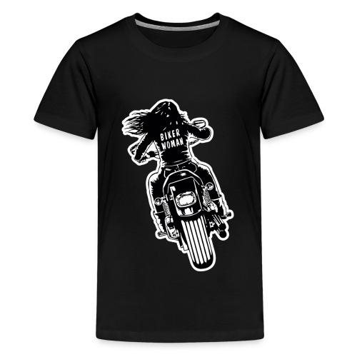 Biker Woman - Camiseta premium adolescente