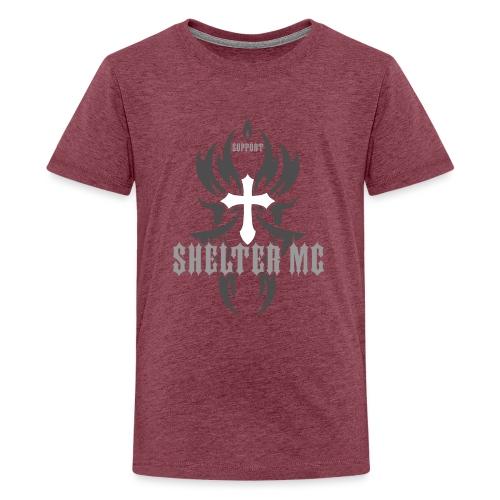 Support Shelter MC - Premium T-skjorte for tenåringer