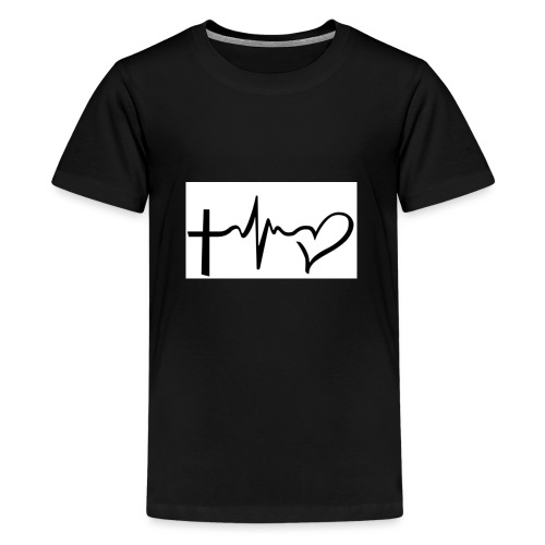 Hope,Live,Love - Teenage Premium T-Shirt