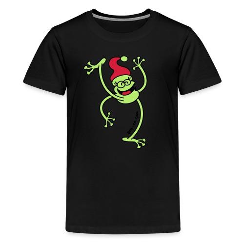 Merry Christmas Frog - Teenage Premium T-Shirt
