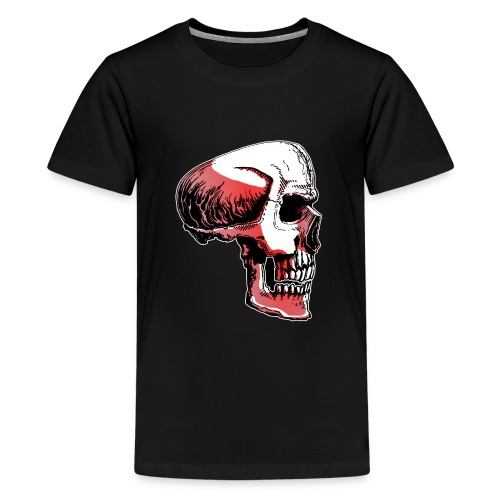 Crimewear© Skullside collored - Premium-T-shirt tonåring