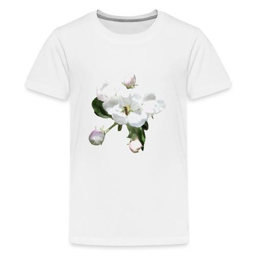 Omenankukka ja kukkakärpänen - Teinien premium t-paita