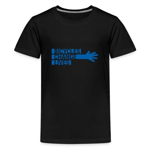 BCL Blue Hand - Teenage Premium T-Shirt