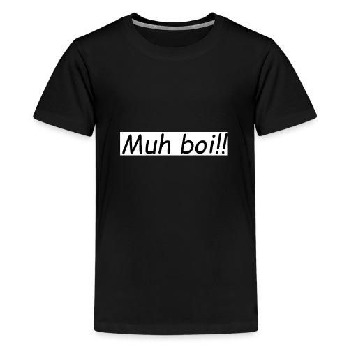 muh boi logo - Premium T-skjorte for tenåringer
