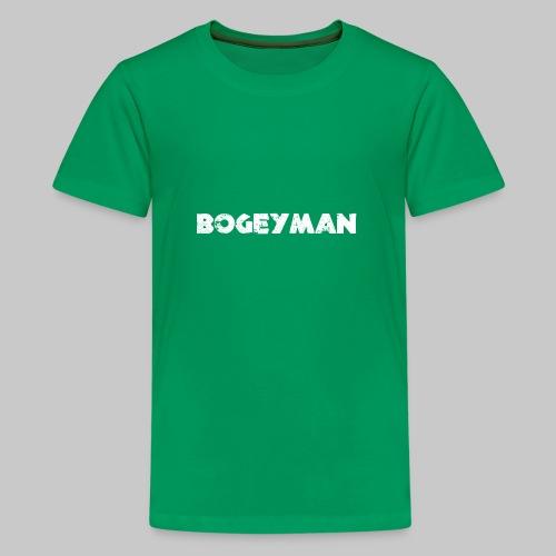 valkoinen - Teinien premium t-paita