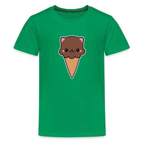 Eis Katze Schokolade - Teenager Premium T-Shirt