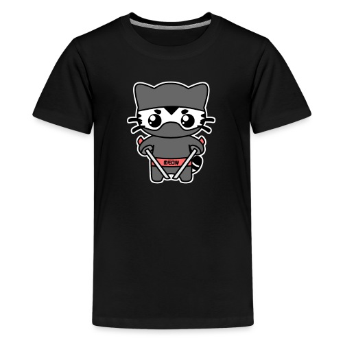 Ninja Katze - Teenager Premium T-Shirt