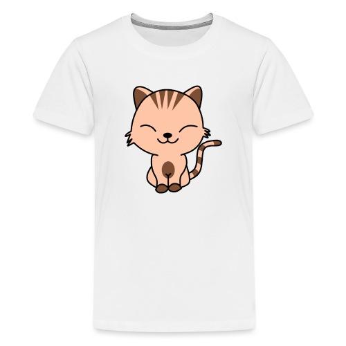 Fröhliche Katze - Teenager Premium T-Shirt