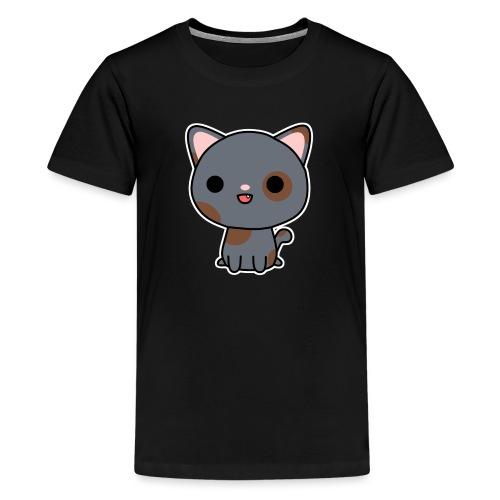 Glückliche Katze - Teenager Premium T-Shirt