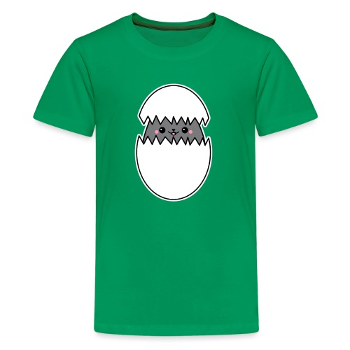 Katze im Ei - Teenager Premium T-Shirt
