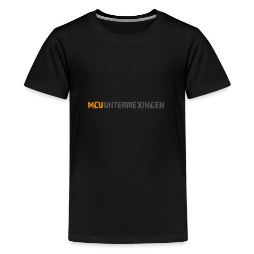 mcu logo 2018 schrift 2c - Teenager Premium T-Shirt