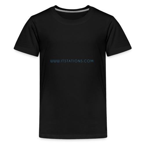 WWW ITSTATIONS COM TEXTE MUGS 2 png - T-shirt Premium Ado