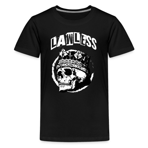Lawless Skull gesetzlos Totenkopf - Teenager Premium T-Shirt