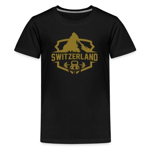 Swiss Mountain _ Gold Edtion - Teenager Premium T-Shirt