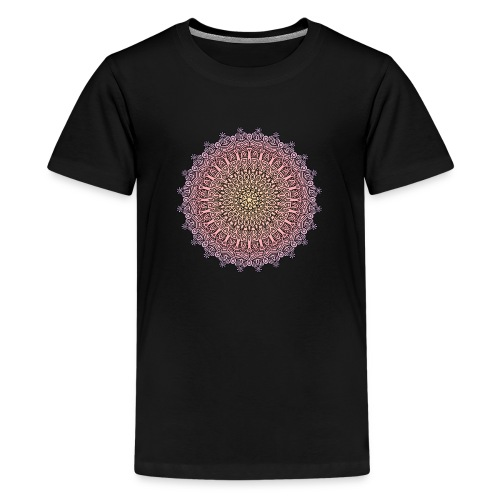 Mandala Sonnenuntergang - Teenager Premium T-Shirt