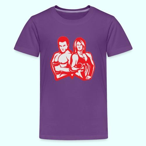 Man & woman NLB - Teinien premium t-paita