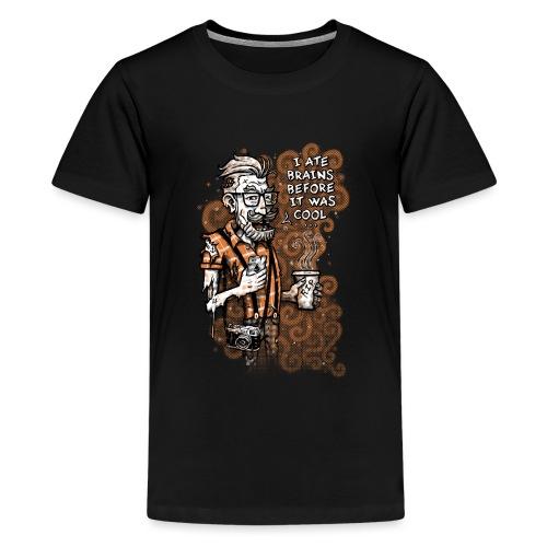Zomb Hipster - Teenage Premium T-Shirt