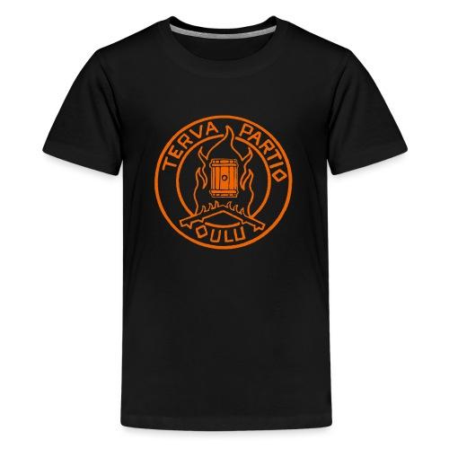 Tervapartio_oranssi - Teinien premium t-paita