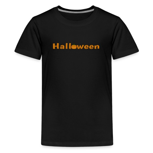 Halloween mit o als Kürbis - Teenager Premium T-Shirt