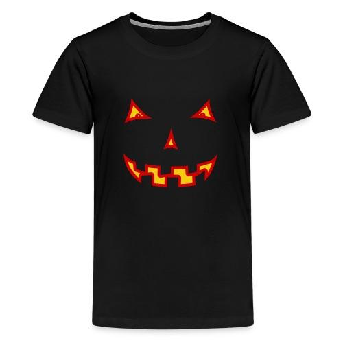Halloween Gruselgesicht - Teenager Premium T-Shirt