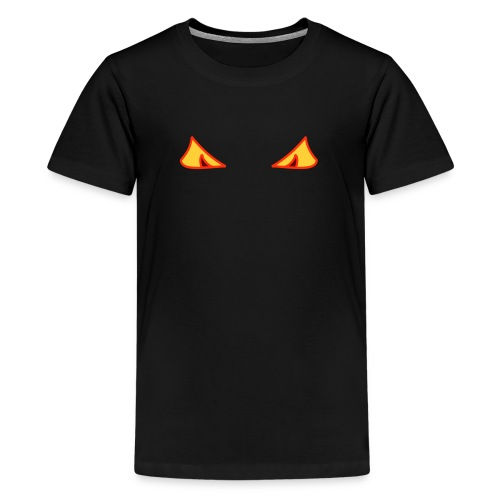 Halloween Augen - Teenager Premium T-Shirt