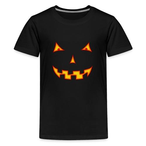 Halloween Kürbisgesicht - Teenager Premium T-Shirt