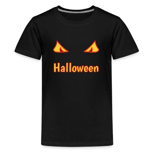 Halloween mit Gruselaugen - Teenager Premium T-Shirt