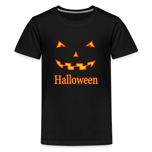 Halloween Gruselmaske - Teenager Premium T-Shirt