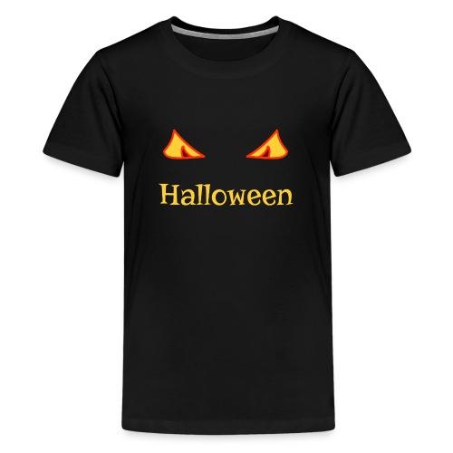 Halloween und gruselige Augen - Teenager Premium T-Shirt